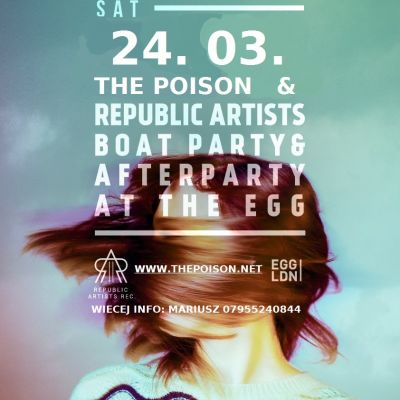 24.03.18 The Poison Boat Party Impreza na Statku